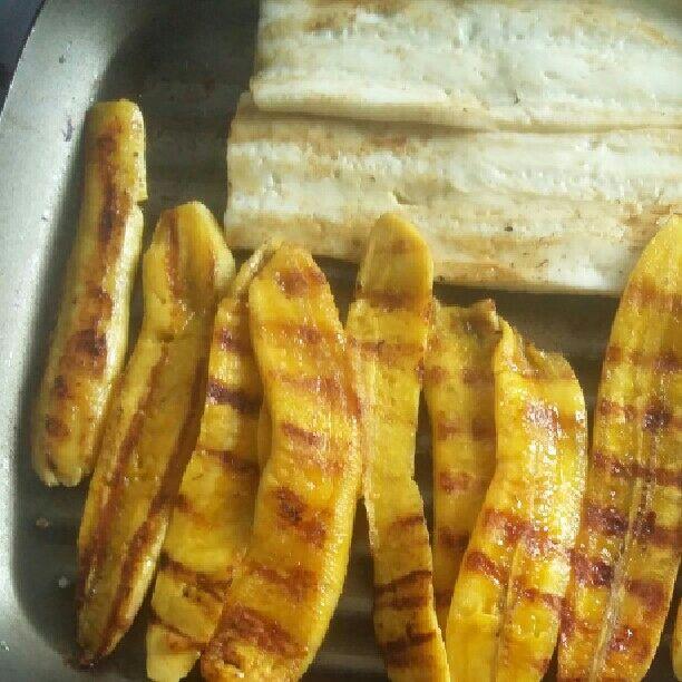 Banana grelhada