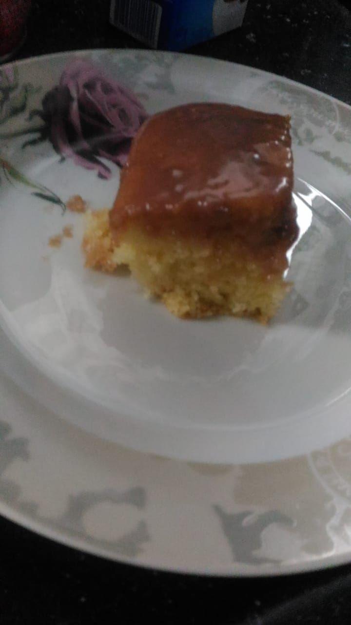 bolo de baunilha no liquidificador