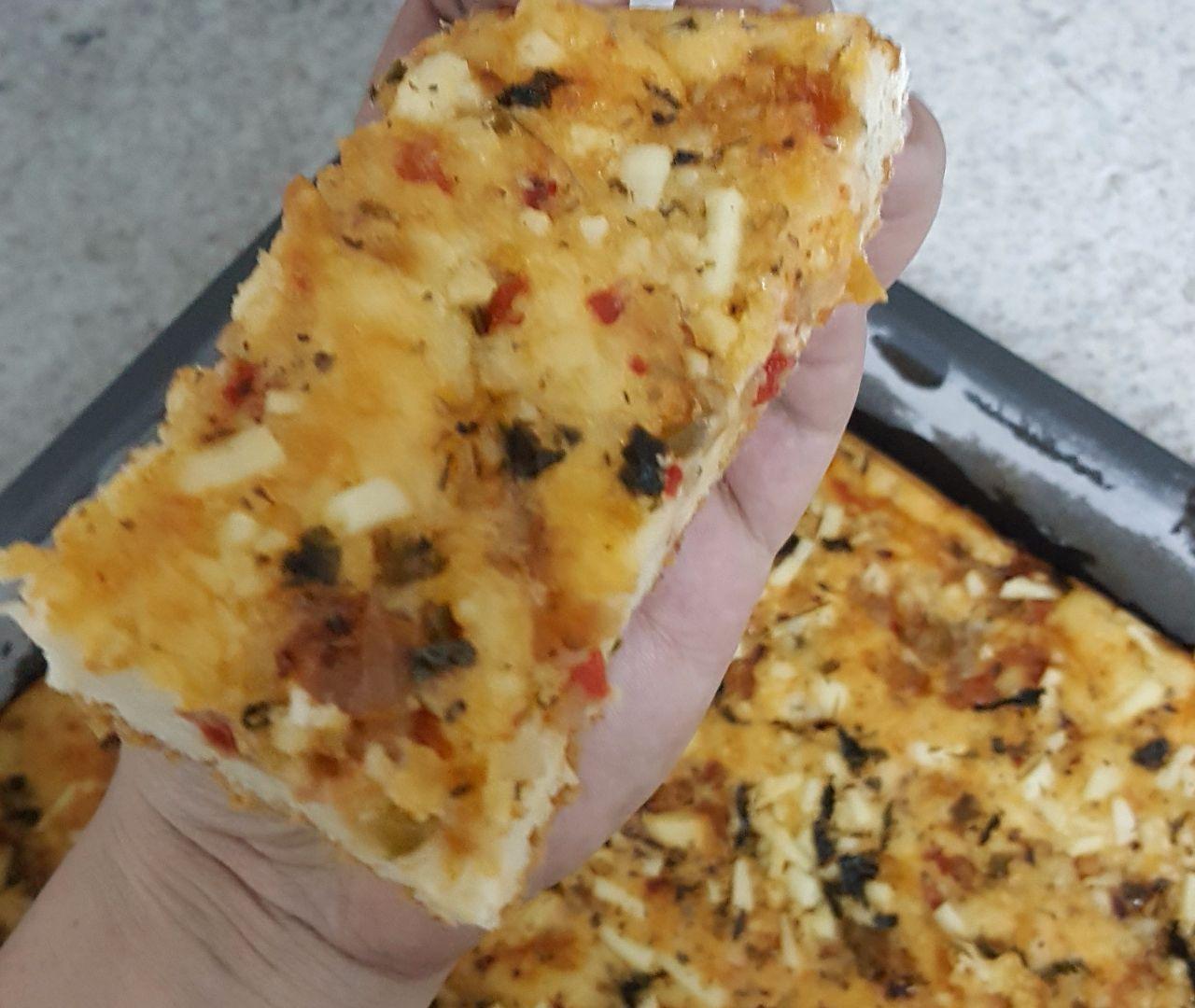 Bolo salgado bacon pizza do Ernani