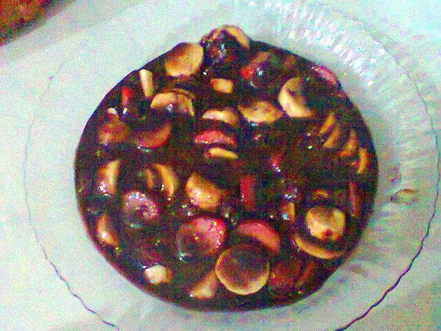 Brigadeiro de panela com frutas