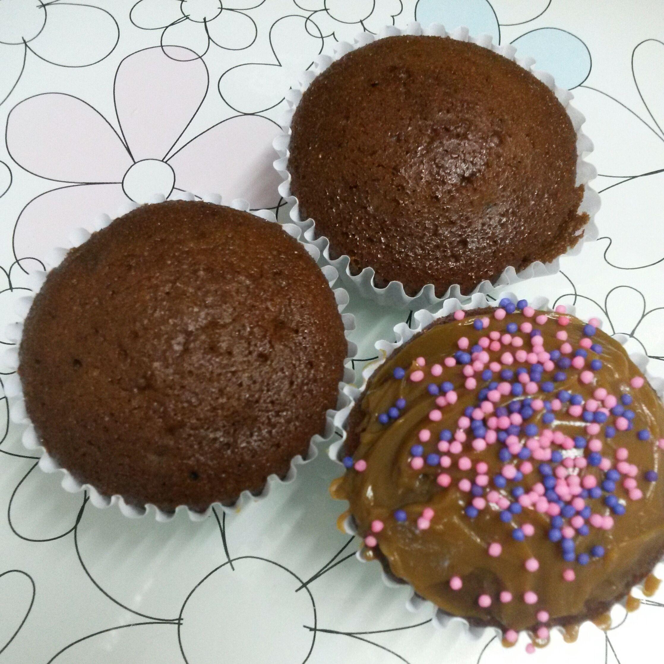 Cupcakes de chocolate (feito no liquidificador)