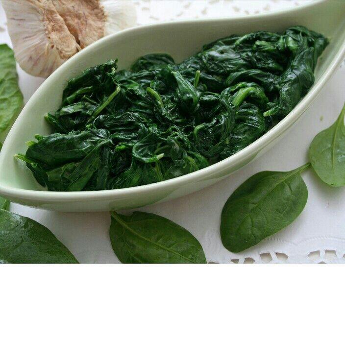 Espinafre cozido (passo a passo)