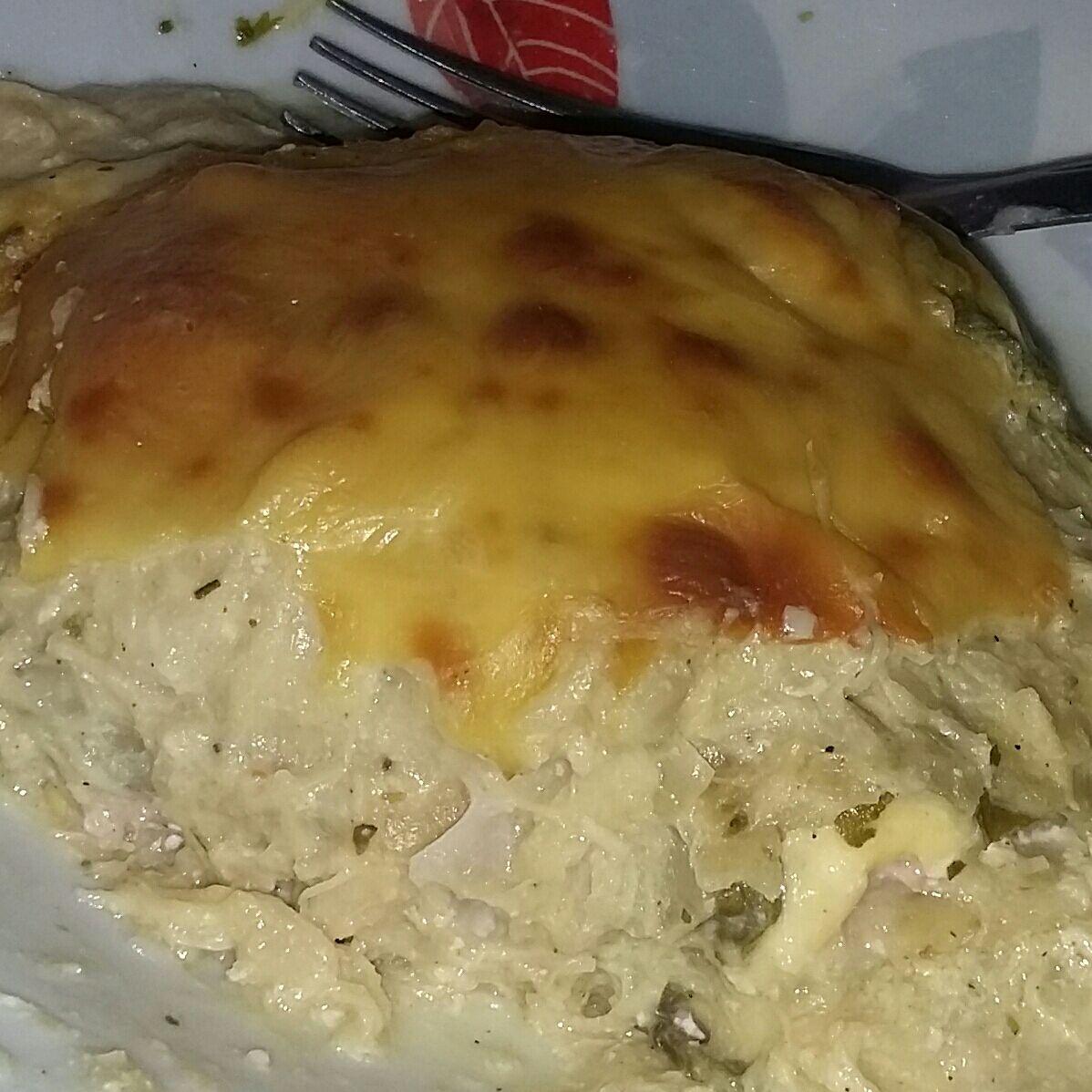 Lasanha de frango com espinafre