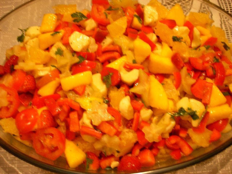 Salada de frutas salgada da Mila