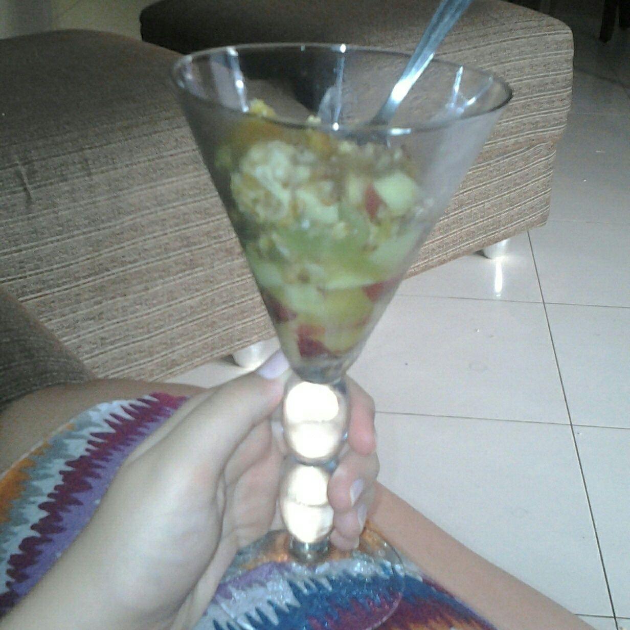 Salada de frutas saudável