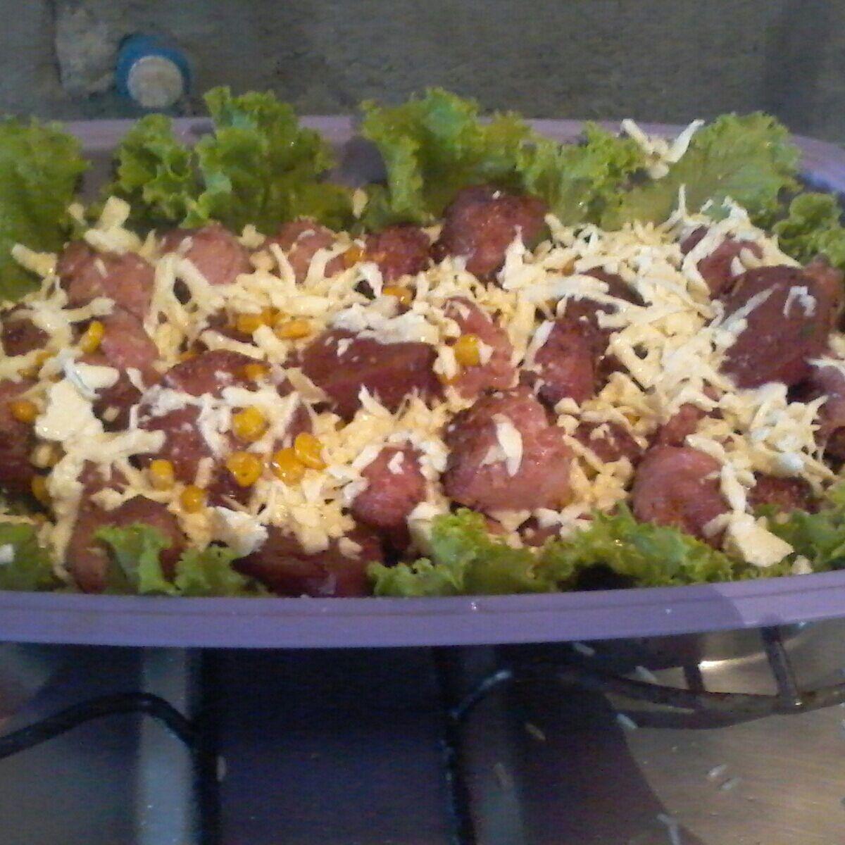 Salada diferente da Dri