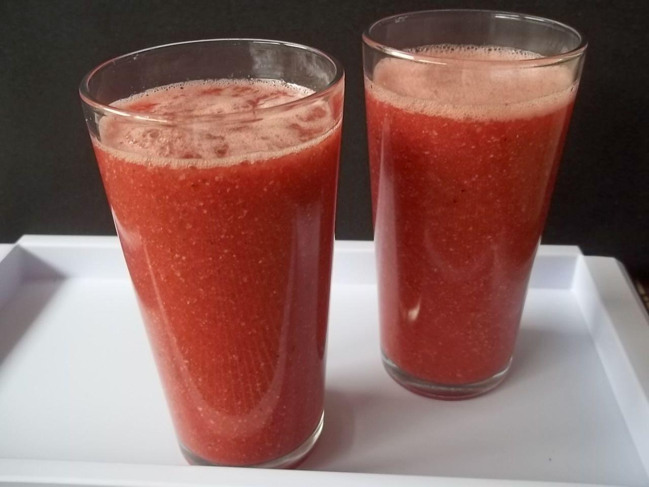 Suco de melancia e chia