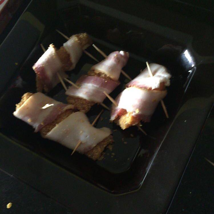 Tirinhas de frango com bacon