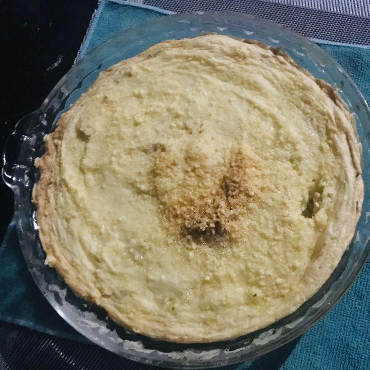 Torta de batata de micro-ondas