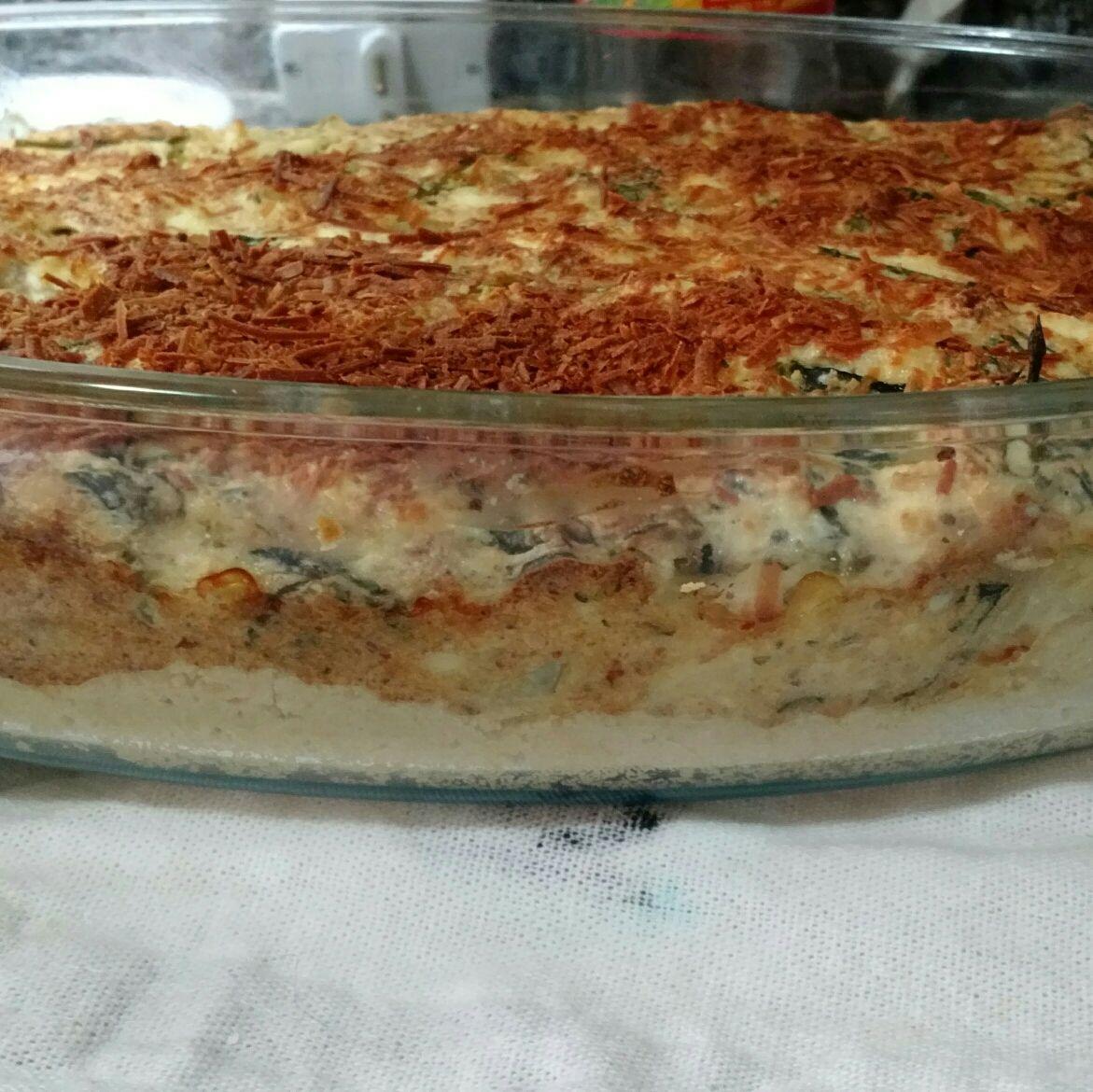 Torta de brócolis com ricota