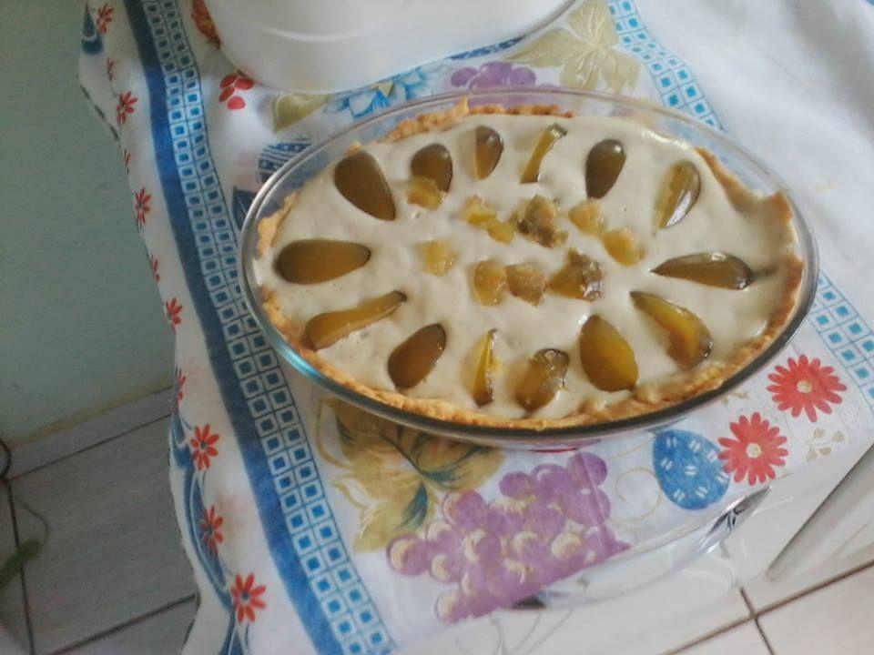 Torta de figo em calda