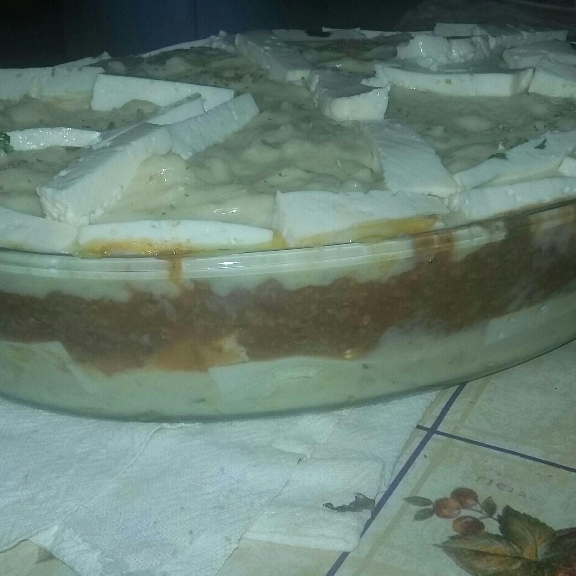 Torta de mandioca light