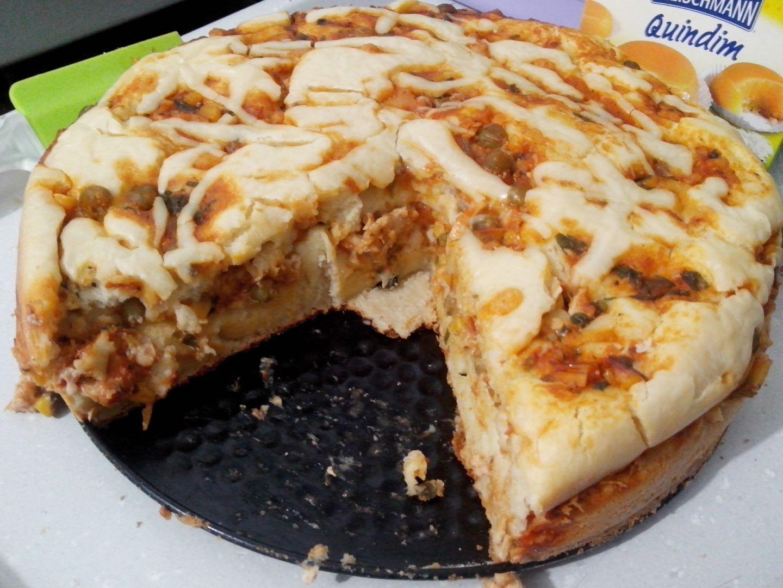 Torta salgada de frango da Luluca