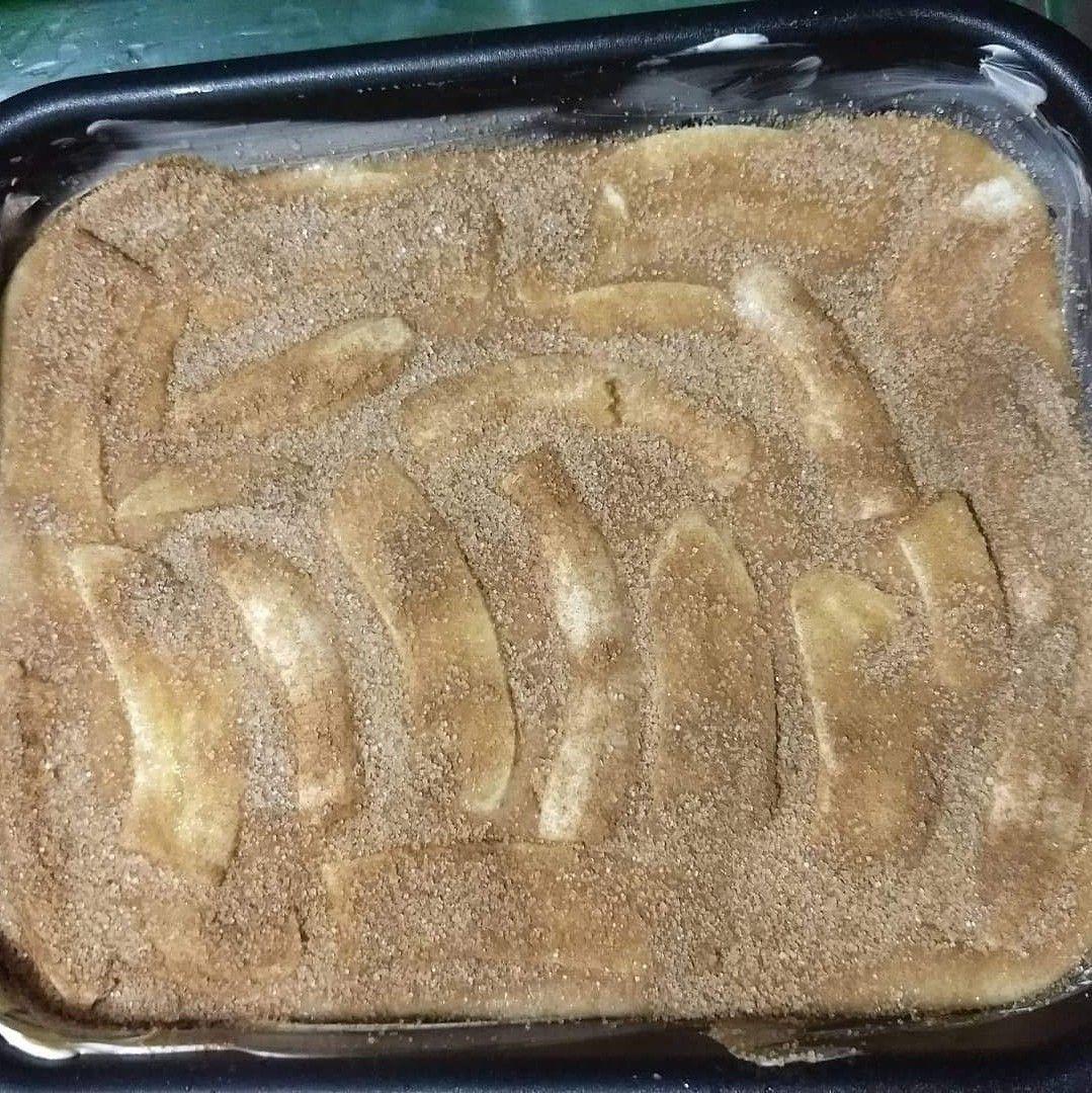 Bolo rápido de Banana com casquinha crocante