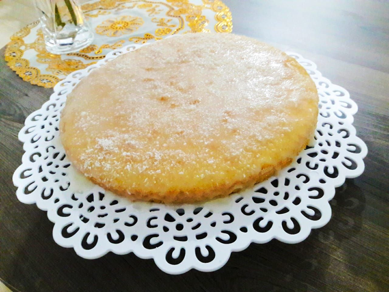 Calda fácil de limão para bolos